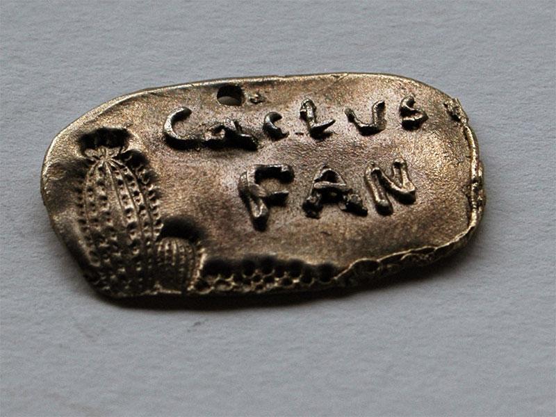 """Prometheus Bronze Anhänger """"Cactusfan"""""""