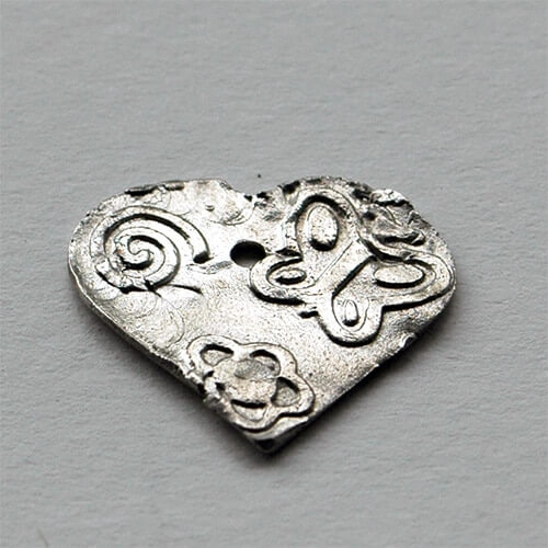 Herz aus Prometheus Silver 950