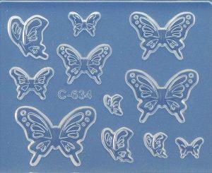 Art Clay Soft Mold Schmetterlinge