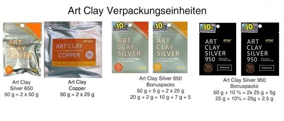 Artclay-Verpackungseinheiten (wie z. b. 50 g + 5g) erklärt